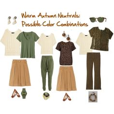 Warm Autumn Neutrals: Possible Color Combinations.  From Seasonal Color Analysis blog