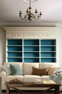 Bibliotheque.  Love this idea for an in-home library