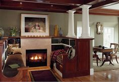Classic-Reading-Nook-with-Bookcase-and-Fireplace