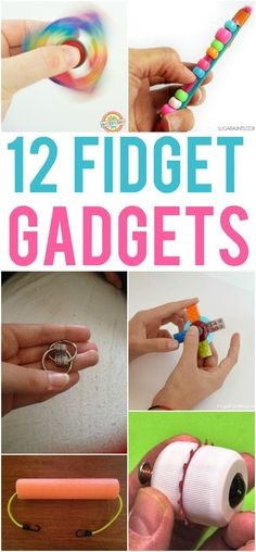 12 DIY Fidget Tools for Kids - try the pipe cleaner, craft stick and beads fidget gadget Figet Toys, Diy Toys, Craft Stick Crafts, Diy Crafts For Kids, Summer Kid Crafts, Art Crafts, Kids Diy, Sensory Activities, Activities For Kids
