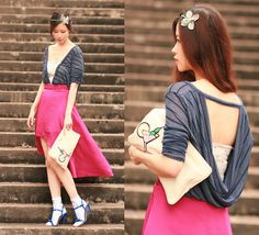 Cowl back (by Mayo Wo) http://lookbook.nu/look/3533105-cowl-back