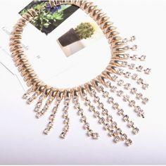 USD5.99Fashion Rhinestone Gold Metal Necklace