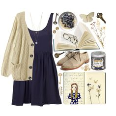 """Blueberries and Cream"" by child-of-the-tropics on Polyvore"