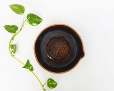 Brown Ceramic lemon squeezer Small ceramic by NoykiCeramics