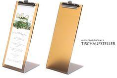 FLYERALARM Menu Design Clipboard Menu Karten bieten wir auch als praktische Tischaufsteller an.