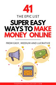 41 Genius Ways to Make Money Online Now | The Practical Saver | Learn how to make money from home using these easy, legit extra cash ideas. Find out exactly the best ways to make extra money right now. #makemoney #extracash #sidehustle Work Online Jobs, Get Paid Online, Make Money Online Now, Make Easy Money, Make Money From Home, Way To Make Money, Extra Cash, Extra Money, Budgeting Finances