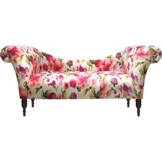 Brando Chaise in Rosie Raspberry - pretty floral pattern!