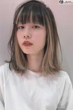There are so many different types of bangs out there, that it can be extremely hard to choose the ones for you, so we're here to help! Two Color Hair, Hair Color Streaks, Blonde Streaks, Peekaboo Hair Colors, Shot Hair Styles, Curly Hair Styles, Dye My Hair, New Hair, Aesthetic Hair