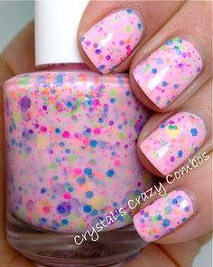 NEW Neon--I Lost My Marbles:  Custom-Blended NEON Glitter Nail Polish / Lacquer. $9.00, via Etsy.