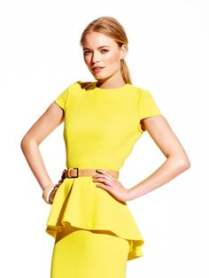 Vogue 1316 - Color blocking continues to be a popular style, with the added flair of Princess seams and structured yokes. These details spice up a classic sheath dress.