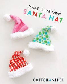 Tutorial and pattern: Fleece lined Santa hat from quilting cotton
