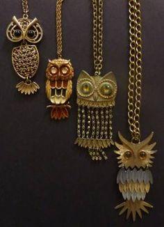 owl necklaces <3