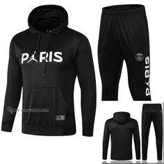 8d664a531a41 Promotion  Magasins Ensemble Nouveau Survetement Coupe Vent Jordan   PSG  Paris Saint Germain Noir Coton