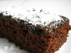 Most fasting baked goods lack luster. This chocolate cake is a big exception! Sometimes I make this on nonfasting days when I am short on eggs and milk. The reaction between the vinegar and bak… Greek Sweets, Greek Desserts, Greek Recipes, Eggless Desserts, Healthy Desserts, Delicious Desserts, Healthy Eats, Farali Recipes, Cake Recipes