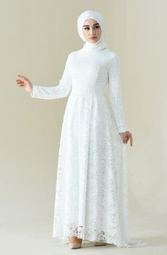 Sefamerve, Dantel Kaplama Abiye Elbise 5033-03 Beyaz Color Tag, Islamic Clothing, Lace Overlay, Evening Dresses, Product Launch, Plus Size, Long Sleeve, Sleeves, Stuff To Buy