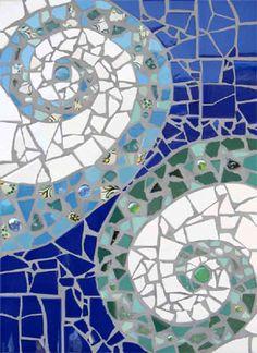 Swirl #mosaic                        #mosaicdesign #mosaicart