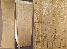 Vintage Art Deco Egyptian Assuit Ecru Cream Cotton Net Silver Stud Shawl Scarf #SpecialOccasion
