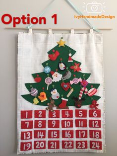 Excited to share the latest addition to my #etsy shop: Christmas Tree advent calendar felt with Ornaments/ Christmas Tree Decoration/countdown/ Roll Up Play Mat/ Quiet Time Mat/ Personalized Gift #art #fiberart #christmas #handmade #personalizedgift #christmastreefelt #rollupplaymat