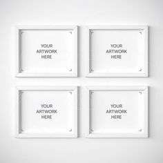 set of four mock ups 8x10 frame mockup white frame cgmockup