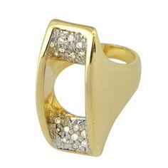 Brinco banhado em ouro 18K., com zircônias e detalhes em rhodium  www.lilaportosemijoias.com.br