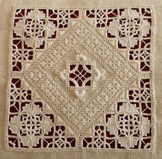"""stitchingsanity: """" Hardanger Embroidery - Gorgeous work in Reticello merklapperie.blog… """" ooohhh"""