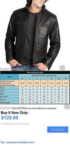 Men Coats And Jackets: New Mens Leather Jacket Slim Fit Biker Motorcycle Genuine Lambskin Jacket - M037 BUY IT NOW ONLY: $129.99 #priceabateMenCoatsAndJackets OR #priceabate