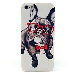 caso+duro+iphone+7+mais+o+cão+de+vidro+padrão+animal+para+iPhone+5+/+5s+–+EUR+€+1.95