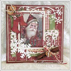 Her er et nytt julekort fra meg, med papirer og bilde fra Pion Designs nye julekolleksjon The Night before Christmas.
