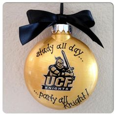 "Holiday Christmas Ornament - ""UCF Knights"" - by RhythmsofGraceArt, $18.00"