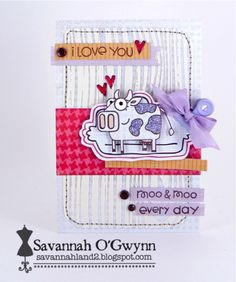 card by SPARKS DT Savannah--using Green Acres and Boob Tube stamp sets   Paper Smooches SPARKS: June 18-24 Cool Shades
