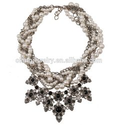 multi layer bead necklace large fashion pearl necklaces
