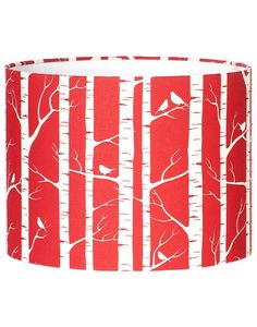 Just bought this! Deep Red Birch Lampshade - organic hemp/linen with ecologically-friendly ink.