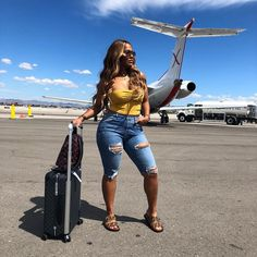 Airport Attire, Airport Outfits, Airport Fashion, Cruise Pictures, Fab Life, Vacation Outfits, Airport Style, Casual Looks, Black Women