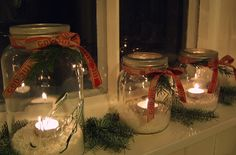 have done this and it is kid friendly. Country Christmas, Christmas 2016, Christmas Holidays, Christmas Crafts, Christmas Decorations, Table Decorations, Christmas Ideas, Holiday Ideas, Scandinavian Christmas