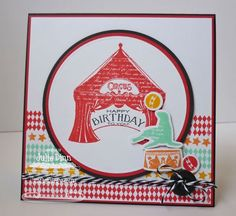 Circus Spectacular Die-namics and Stamp Set - Julie Dinn