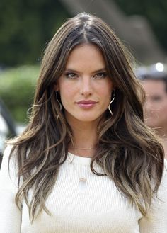30 ways to change up your long hair without having to chop off the length, inspired by celebs like Alessandra Ambrosio.