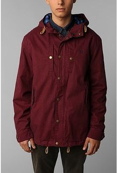 Fred Perry Brushed Pursuit Jacket - Yummmm Burgundy!
