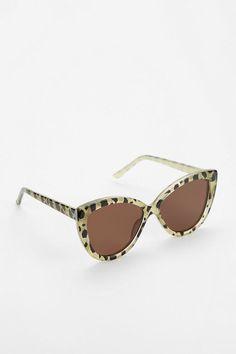 Pearl Leopard Cat-Eye Sunglasses
