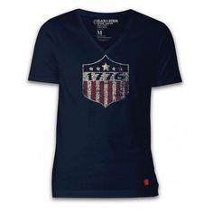 Apple Pie Black & Denim 1776 Men's V-Neck T-Shirt
