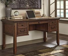 Darby Home Co Lorenza Home Office Computer Desk Computer Armoire, Home Office Computer Desk, Best Computer, Desk Storage, Small Storage, Best Desk, Storage Compartments, Traditional Design, Corner Desk