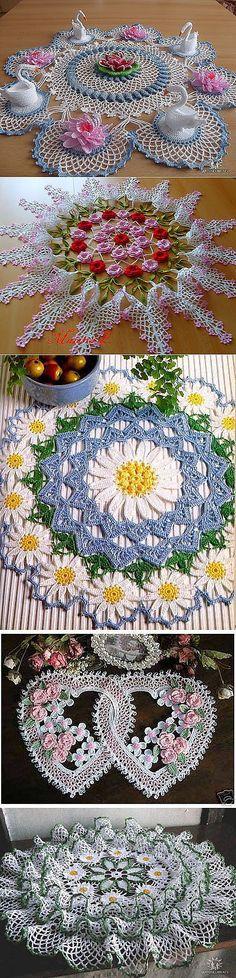 Crochet Mat, Crochet Dollies, Crochet Diagram, Crochet Squares, Thread Crochet, Crochet Cushion Cover, Crochet Cushions, Crochet Table Runner Pattern, Crochet Tablecloth