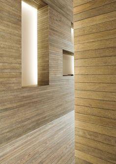 Vudafieri Saverino Partners, Milano beautiful residence, love the stone & wood walls
