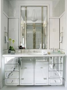 Mirrored Bathroom...♥