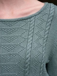 Skill Level: Intermediate This gansey-inspired sweater is knit in pieces with simple knit-and-purl charted stitch patterns. Free Pattern More Patterns Like This! Free Knitting Patterns For Women, Sweater Knitting Patterns, Knitting For Kids, Knit Patterns, Stitch Patterns, Knitting Sweaters, Lace Knitting, Pulls, Ravelry
