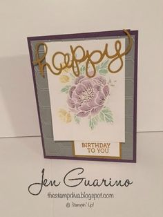 SSINKCC29: Color Challenge card using the new Birthday Blooms stamp set from the Occasions 2016 catalog by Stampin' Up!