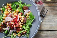 Kichererbsen-Salat mit Rucola #kichererbsen #gemüse #salat #nu3