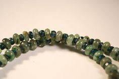 Green Kyanite Emerald Necklace Light Weight Energetic by QuietMind