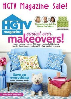 HGTV Magazine Sale: $2.00 per issue!! #hgtv #homedecor #thefrugalgirls