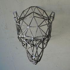 Bear Head Sculpture by Wyatt Ellison