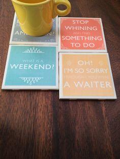 Downton Abbey Quote Coasters
